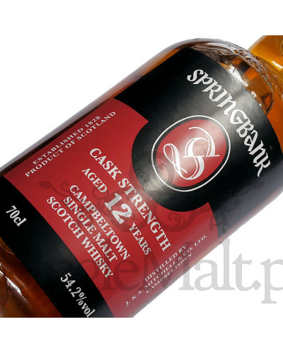 Springbank 12 Years Old Cask Strength / 54,2% / 0,7 l