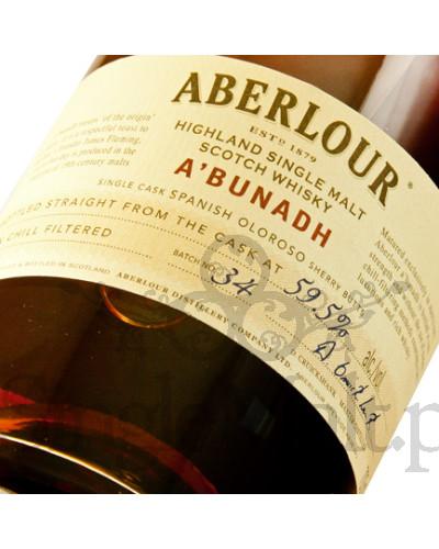 Aberlour A'bunadh (batch 34) / 59,5% / 0,7 l