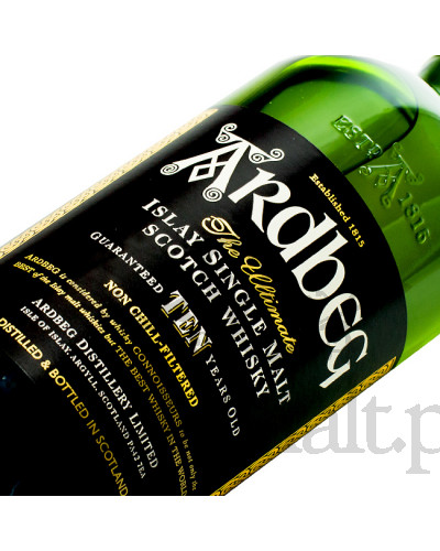 Ardbeg 10 Years Old + szklanka / 46% / 0,7 l