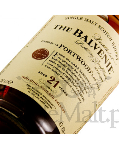 Balvenie 21 Years Old Portwood / Non Chill Filtered Release / 47,6% / 0,7 l