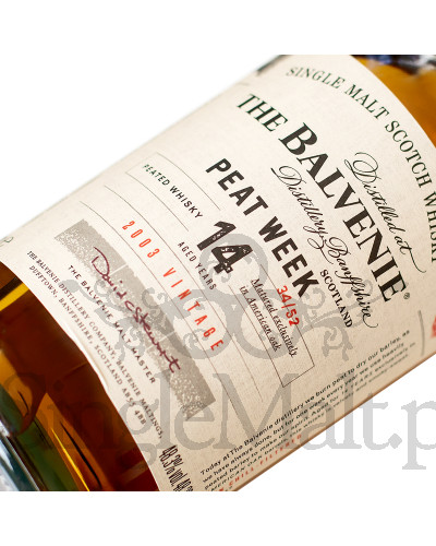 Balvenie 14 Years Old Peat Week / 2003 / 48,3% / 0,7 l
