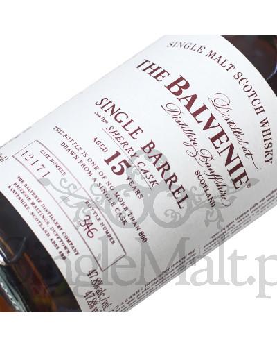 Balvenie 15 Years Old Single Barrel / Sherry Cask / 47,8% / 0,7 l