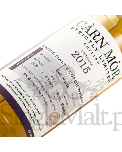 Ben Nevis 4 Years Old / 2015 / Strictly Limited Edition / 2020 / Carn Mor / 47,5% / 0,7 l
