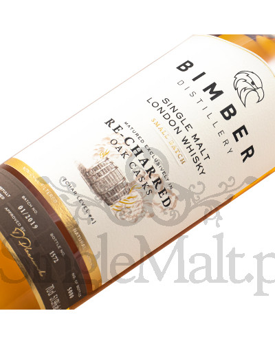 Bimber / Re-charred Oak Casks / Single Malt London Whisky / 51,9% / 0,7 l