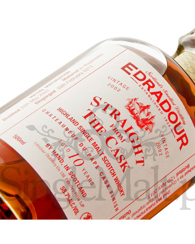 Edradour 10 Years Old / 2002 / Straight from The Cask / Chateauneuf du pape / 58,7% / 0,5 l