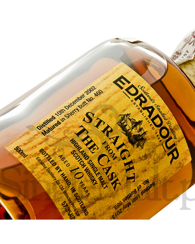 Edradour 10 Years Old / 2002 / Straight from The Cask / Sherry / 57,3% / 0,5 l