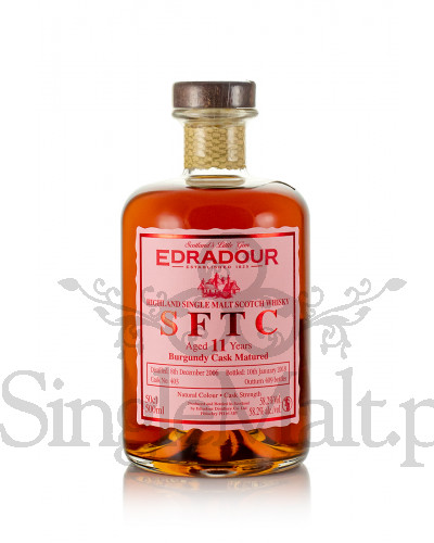 Edradour 11 Years Old / 2006 / Straight from The Cask / Burgundy / 2018 / 58,2% / 0,5 l