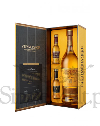 Glenmorangie Pioneer Set / The Original 10 Years Old + 2 miniaturki 12 YO Lasanta, 12 YO Quinta Ruban / 0,7 l + 2x 0,05 l