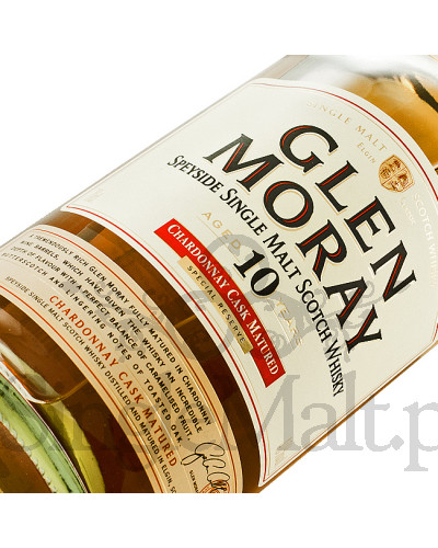 Glen Moray 10 Years Old / Chardonnay / 40% / 0,7 l