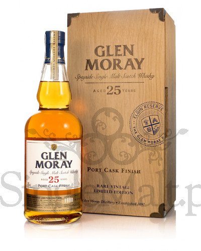 Glen Moray 25 Years Old / Port Cask Finish / 1988 / 43% / 0,7 l