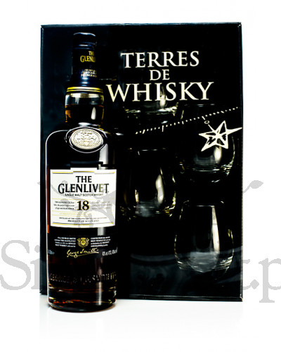 Glenlivet 18 Years Old + 4 szklanki / 43% / 0,7 l