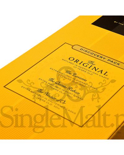 Glenmorangie Discovery Pack / Original, Lasanta, Quinta Ruban, Nectar Dor / 41,06% / zestaw 1 x 10 YO 0,7 l + 3 x miniaturki 0,05 l