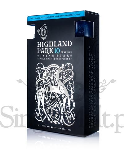 Highland Park 10 Years Old + 2 szklanki / 40% / 0,7 l