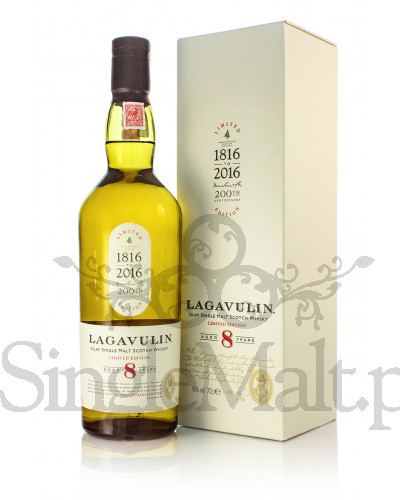 Lagavulin 8 Years Old / 200th Anniversary Edition / 48% / 0,7 l