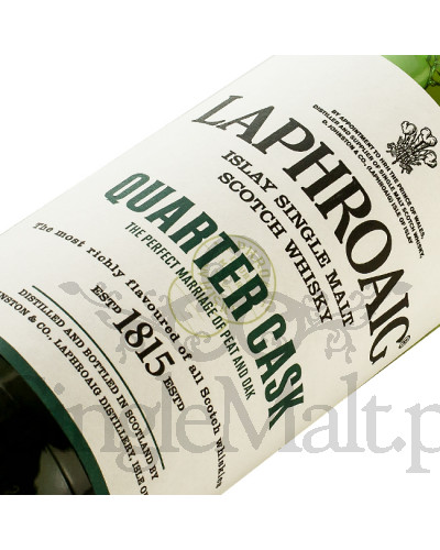 Laphroaig Quarter Cask + szklanka / 48% / 0,7 l