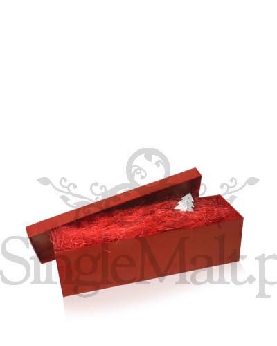 Pudełko ozdobne w kolorze czerwonym