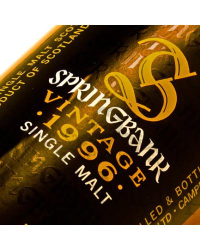 Springbank 1996 Vintage / 54,9% / 0,7 l