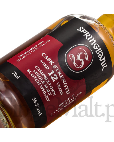 Springbank 12 Years Old Cask Strength / 56,5% / 0,7 l