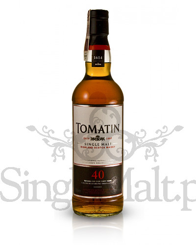 Tomatin 40 Years Old / 42,9% / 0,7 l