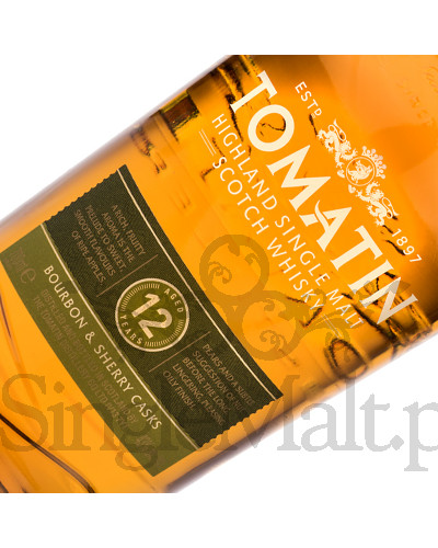 Tomatin 12 Years Old / 43% / 0,7 l