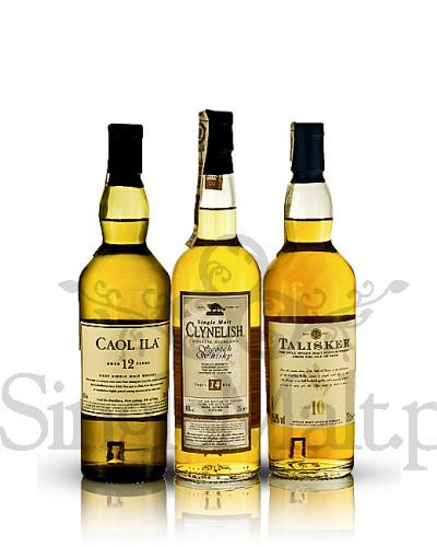 Zestaw Classic Malts Coastal Collection / Caol Ila 12YO, Clynelish 14YO, Talisker 10YO / 44,93% / 3 x mała butelka 0,2 l