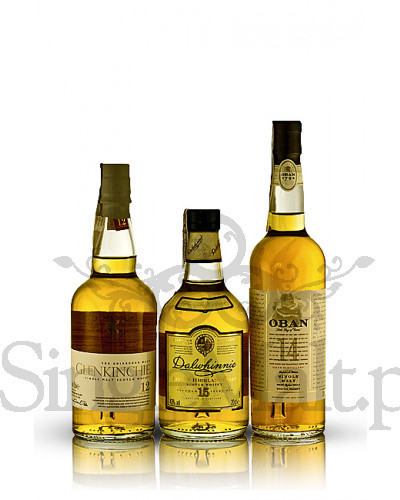 Zestaw Classic Malts Gentle Collection / Glenkinchie 12YO, Dalwhinnie 15YO, Oban 14YO / 43% / 3 x mała butelka 0,2 l