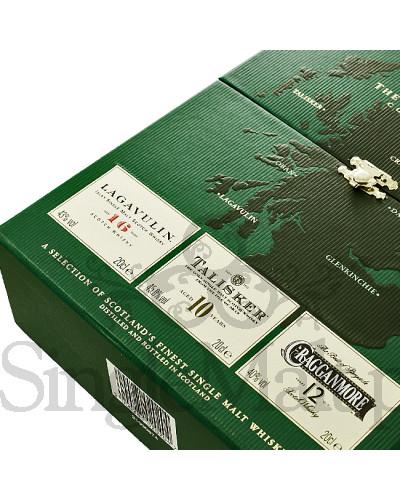 Zestaw Classic Malts Strong Collection / Lagavulin 16YO, Talisker 10YO, Cragganmore 12YO / 42,9% / 3 x mała butelka 0,2 l